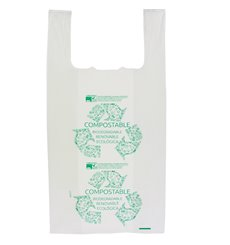 Plastic T-Shirt Bag 100% Biodegradable 35x50cm (200 Units)