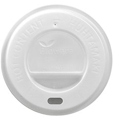 Plastic Lid PLA Ø8,0cm for Paper Cup 4 Oz/120ml (100 Units)