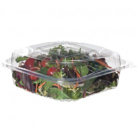 Clamshell Deli Container PLA 20,0x20,0x7,5cm (80 Units)