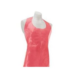 Disposable Plastic Apron PE G80 Red 76x120cm (100 Units)