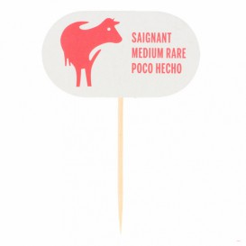 Medium Rare Food Marker 8 cm (2000 Units)