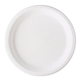 Sugarcane Plate Bagasse White Ø25,3 cm (500 Units)