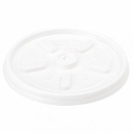 Plastic Lid PS Ø6,9cm for Foam Cup 4Oz/120ml (100 Units)