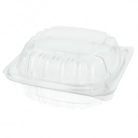 """Plastic Hinged Deli Container OPS """"Clear Seal"""" 120ml (500 Units)"""