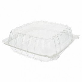 """Plastic Hinged Deli Container OPS """"Clear Seal"""" 335ml (125 Units)"""