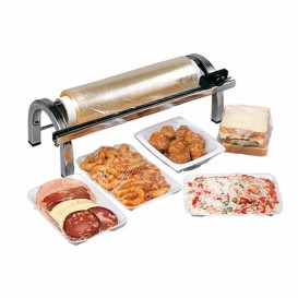Food Wrap Dispenser with Cutter Stainless Steel 30cm (1 Unit)