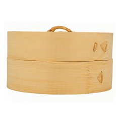 Bamboo Steamer with Lid Ø15x8cm (1 Unit)