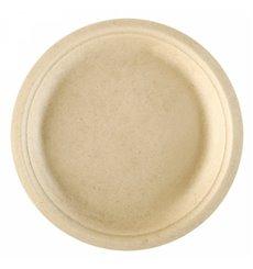 Sugarcane Plate Natural Ø18 cm (50 Units)