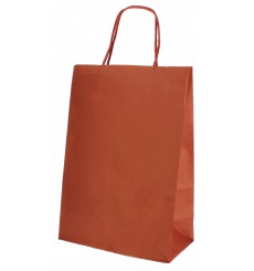Paper Bag with Handles Kraft Red 80g 20+10x29cm (250 Units)