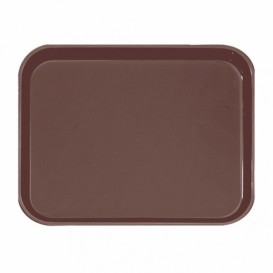 Plastic Tray Non-Slip Brown 51,0x38,0cm (1 Unit)