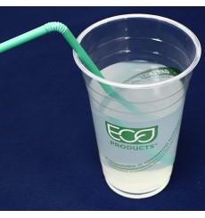 "Cornstarch Cup PLA ""Green Stripe"" 470ml (1.000 Units)"