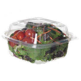 Clamshell Deli Container PLA 15,0x15,0x7,5cm (80 Units)