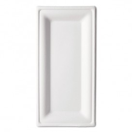 Sugarcane Tray Bagasse White 25,5x12,7 cm (500 Units)