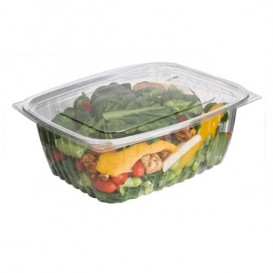 Cornstarch Deli Container with Lid PLA Compostable 1890ml (50 Units)
