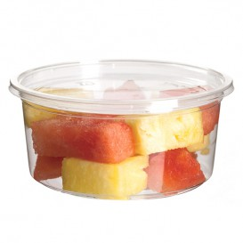 Tub Deli Container PLA Clear Compostable 355ml (500 Units)