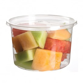 Tub Deli Container PLA Clear Compostable 470ml (500 Units)