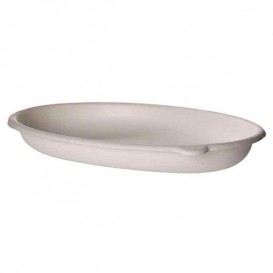 Sugarcane Tray Ecologic Oval White 710ml (50 Units)