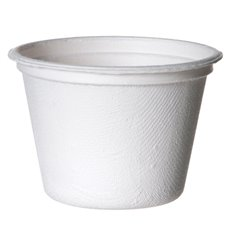 Sugarcane Container Bagasse White 120ml (1800 Units)