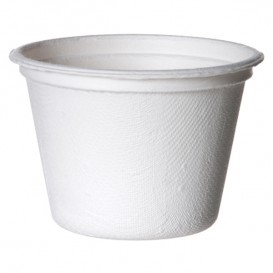 Sugarcane Container Bagasse White 120ml (50 Units)