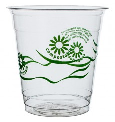 "Cornstarch Cup PLA ""Green Spirit"" Clear 250ml (1250 Units)"