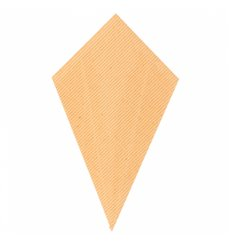Paper Carrugated Dipping Cone Kraft 22cm 100g (800 Units)