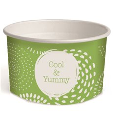 """Paper Ice Cream Container""""Cool and Yummy"""" 3oz/100ml (2.600 Units)"""