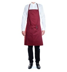 Serving apron bib and pocket Grey and Black Stripes 75x90cm (1 Unit)