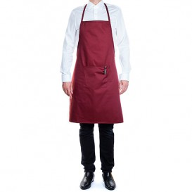Serving apron bib and pocket Grey and Black Stripes 75x90cm (20 Uts)