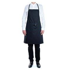 Serving apron bib and pocket Black 75x90cm (1 Unit)