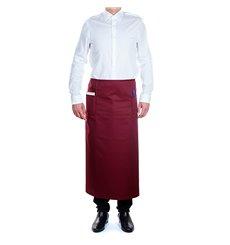 Serving French apron 2 pocket Burgundy 90x110cm (1 Unit)