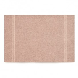 "Recycled Cotton Placemat ""Day Drap"" Brown 32x45cm (72 Units)"