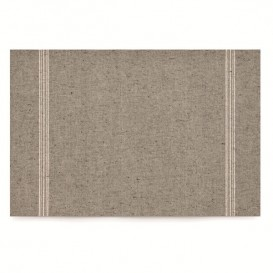 "Placemat ""Day Drap"" Cotton Dark Brown 32x45cm (12 Units)"