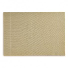 "Cotton Placemat ""Day Drap"" Sand 32x45cm (12 Units)"
