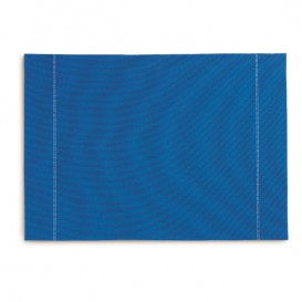 "Cotton Placemat ""Day Drap"" Royal Blue 32x45cm (12 Units)"