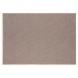 """Cotton Placemat """"Day Drap"""" Blue Line 32x45cm (12 Units)"""