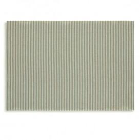 """Cotton Placemat """"Day Drap"""" Green Line 32x45cm (12 Units)"""