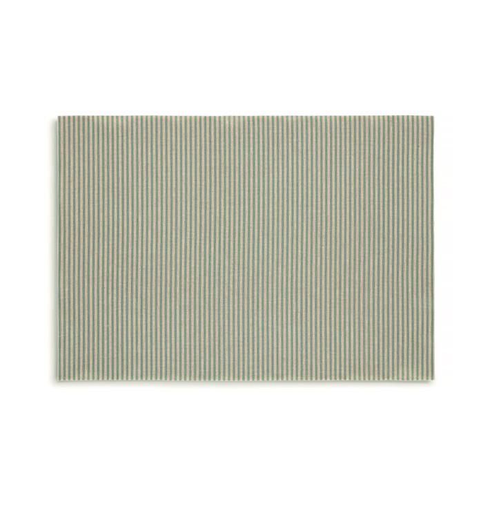 """Cotton Placemat """"Day Drap"""" Green Line 32x45cm (72 Units)"""
