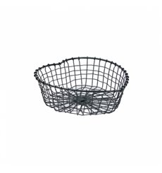 Serving Basket Containers Steel Heart Shape Black 28x27x9cm (6 Units)