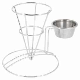 Display Basket Containers Steel with Cup Ø8,3x12,7cm (1 Unit)