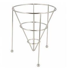 Serving Basket Containers Steel Stackable Ø12,7x15,2cm (12 Units)