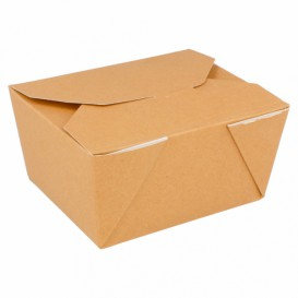 "Paper Take-out Container ""American"" Natural 11,3x9x6,4cm 780ml (50 Units)"