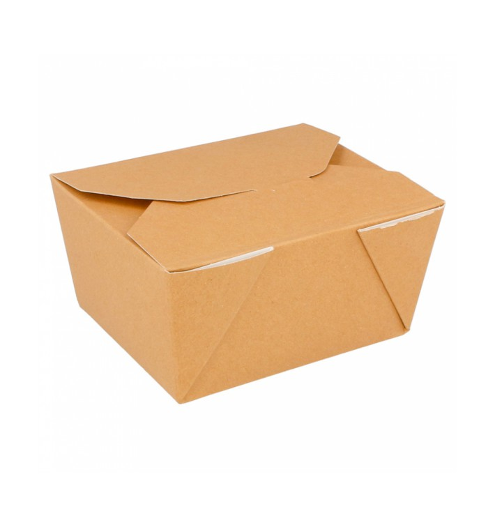 """Paper Take-out Container """"American"""" Natural 11,3x9x6,4cm 780ml (50 Units)"""