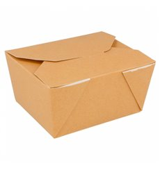 """Paper Take-out Container """"American"""" Natural 1,13x0,90x0,64cm 780ml (450 Units)"""