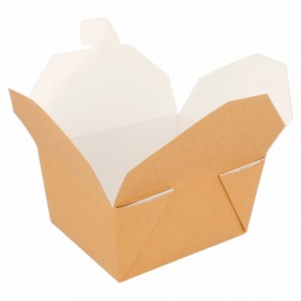 """Paper Take-out Container """"American"""" Natural 11,3x9x6,4cm 780ml (450 Units)"""