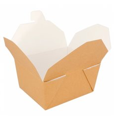 "Paper Take-out Container ""American"" Natural 1,13x0,90x0,64cm 600ml (450 Units)"