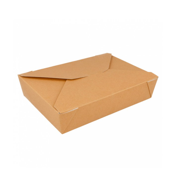 """Paper Take-out Container """"American"""" Natural 19,7x14x4,6cm 1470ml (50 Units)"""