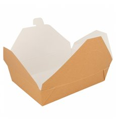 """Paper Take-out Container """"American"""" Natural 1,97x1,40x0,46cm 1470ml (200 Units)"""