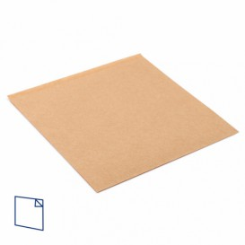 Paper Food Bag Grease-Proof Opened L Shape 18x18,2cm Natural (100 Units)