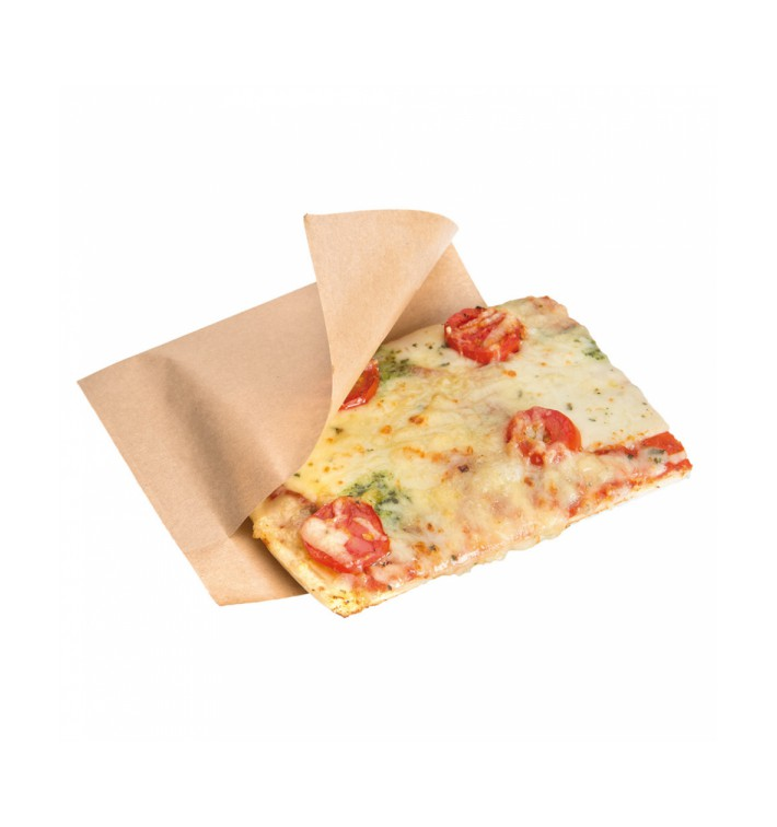 Paper Bag Grease-Proof Opened 15x13/10cm Natural (100 Units)