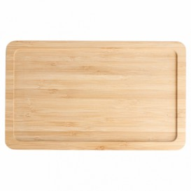 Bamboo Tray Cocktail 20,5x12,5x1cm (10 Units)